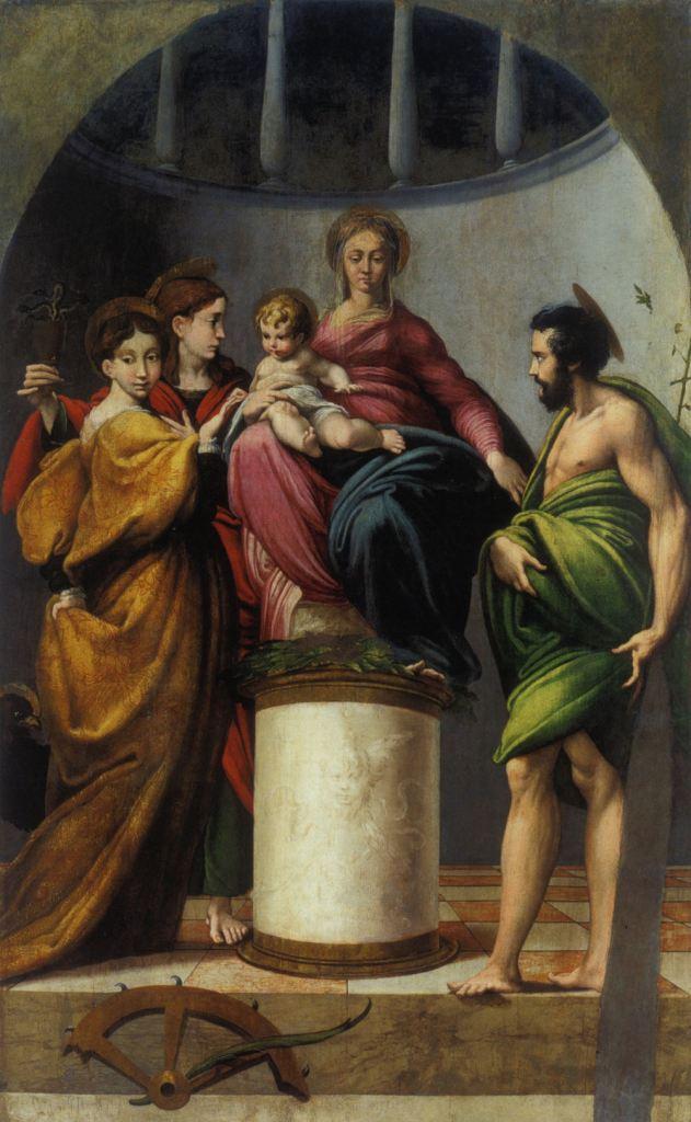 Chiesa di Santa Maria, Parmigianino - Sposalizio di Santa Caterina d'Alessandria coi Santi Giovanni Battista e Giovanni Evangelista