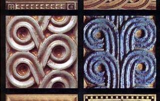 Salsomaggiore, Terme Berzieri. Alcuni degli straordinari motivi ornamentali realizzati da Chini per le Terme Berzieri.