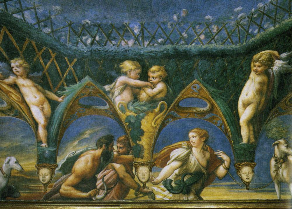 Rocca di Fontanellato, Parmigianino, Fabula di Diana e Atteone