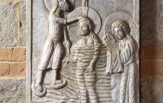 Collecchio, Pieve di San Prospero, Il Battesimo di Cristo (Foto: Davoli)