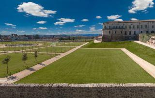 Sala Baganza - Veduta del giardino della Rocca Sanvitale