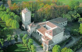Rocca in San Secondo - veduta aerea