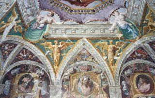 """Gli affreschi della volta del """"Gabinetto dei Cesari"""" nella Rocca di Sala Baganza"""