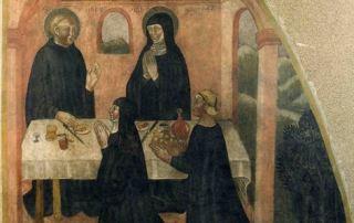 Refettorio delle monache, affresco staccato, XIV sec. (Parma, Camera di San Paolo)