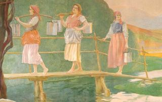 Daniele de Strobel, Il trasporto del latte, 1925 (Parma, Sede centrale Cariparma-Crédit Agricole)